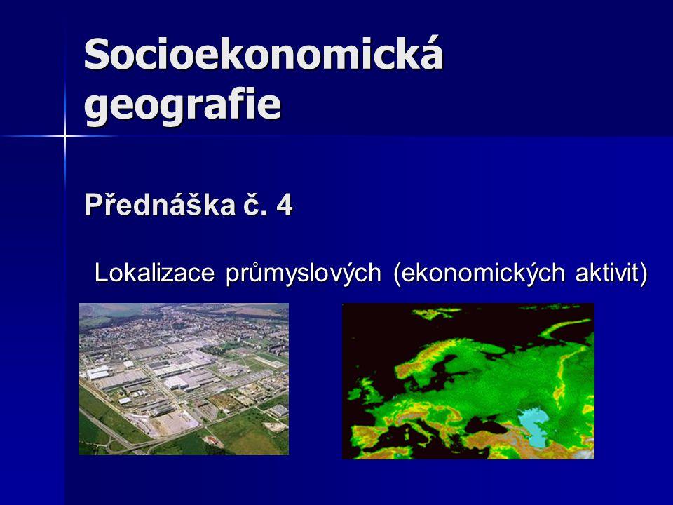 Lokalizace průmyslových (ekonomických aktivit)