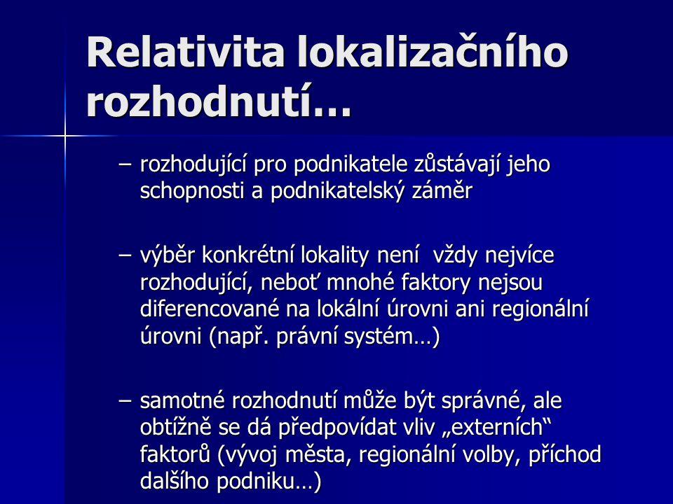 Relativita lokalizačního rozhodnutí…