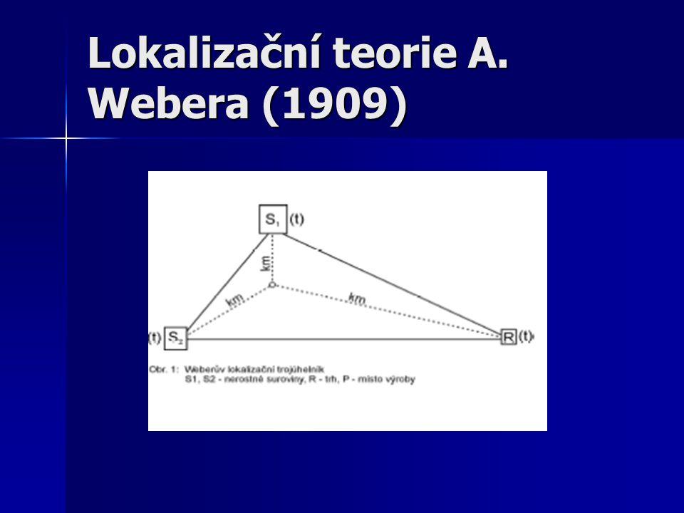 Lokalizační teorie A. Webera (1909)