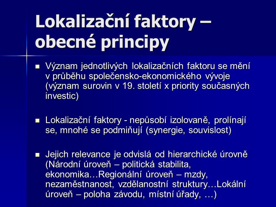 Lokalizační faktory – obecné principy