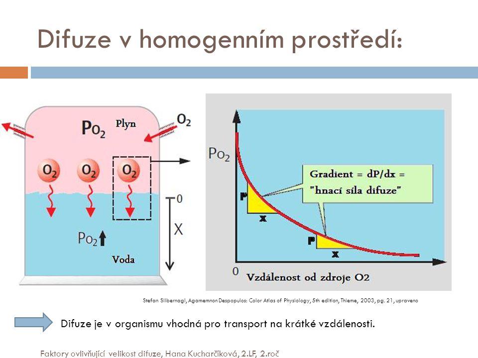 Difuze v homogenním prostředí: