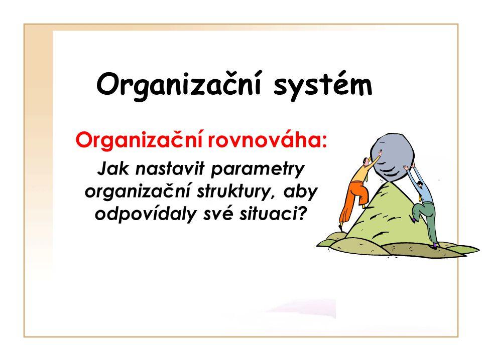 Organizační rovnováha: