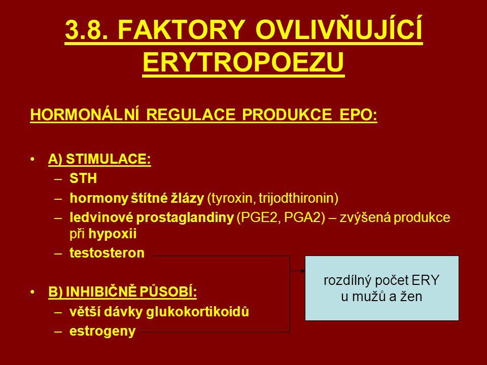 3.8. FAKTORY OVLIVŇUJÍCÍ ERYTROPOEZU