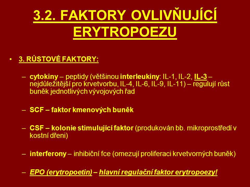 3.2. FAKTORY OVLIVŇUJÍCÍ ERYTROPOEZU