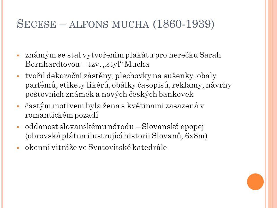 Secese – alfons mucha (1860-1939)