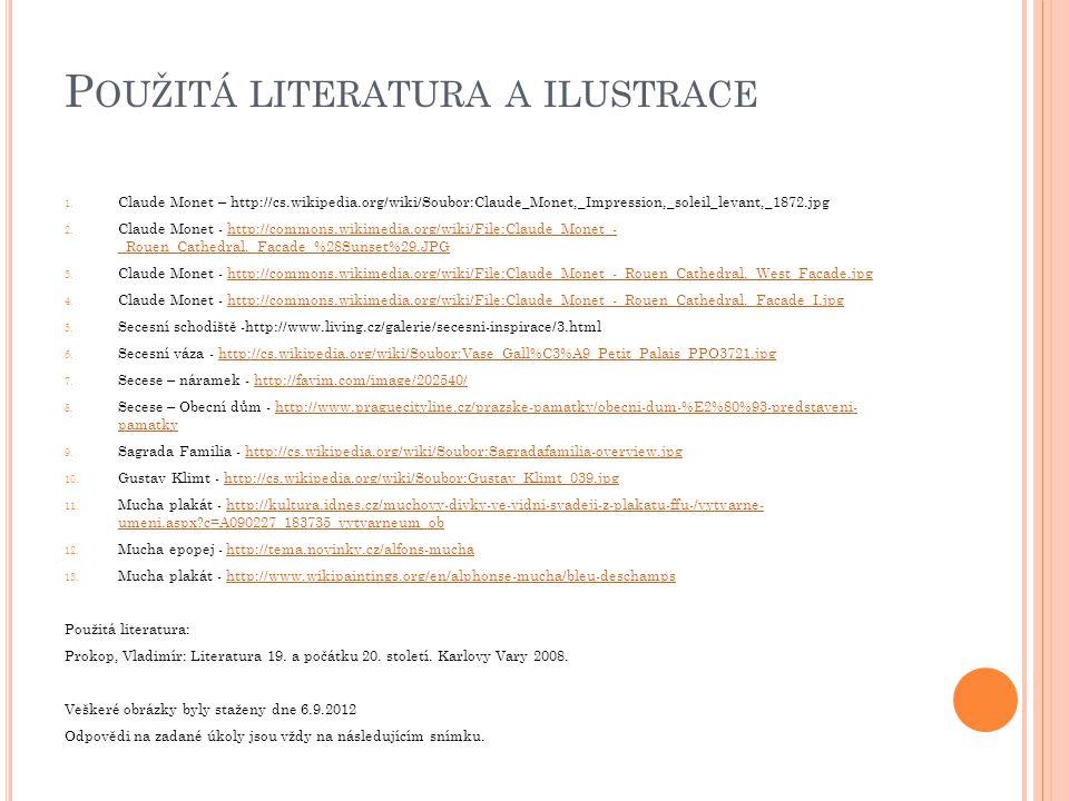 Použitá literatura a ilustrace