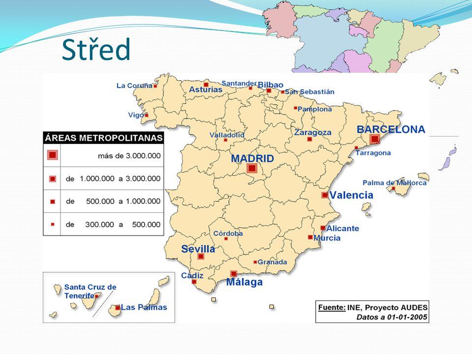 Střed nejrozsáhlejší region významná zemědělská oblast