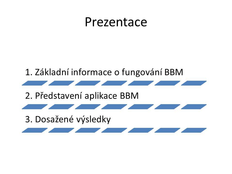 Prezentace 1. Základní informace o fungování BBM