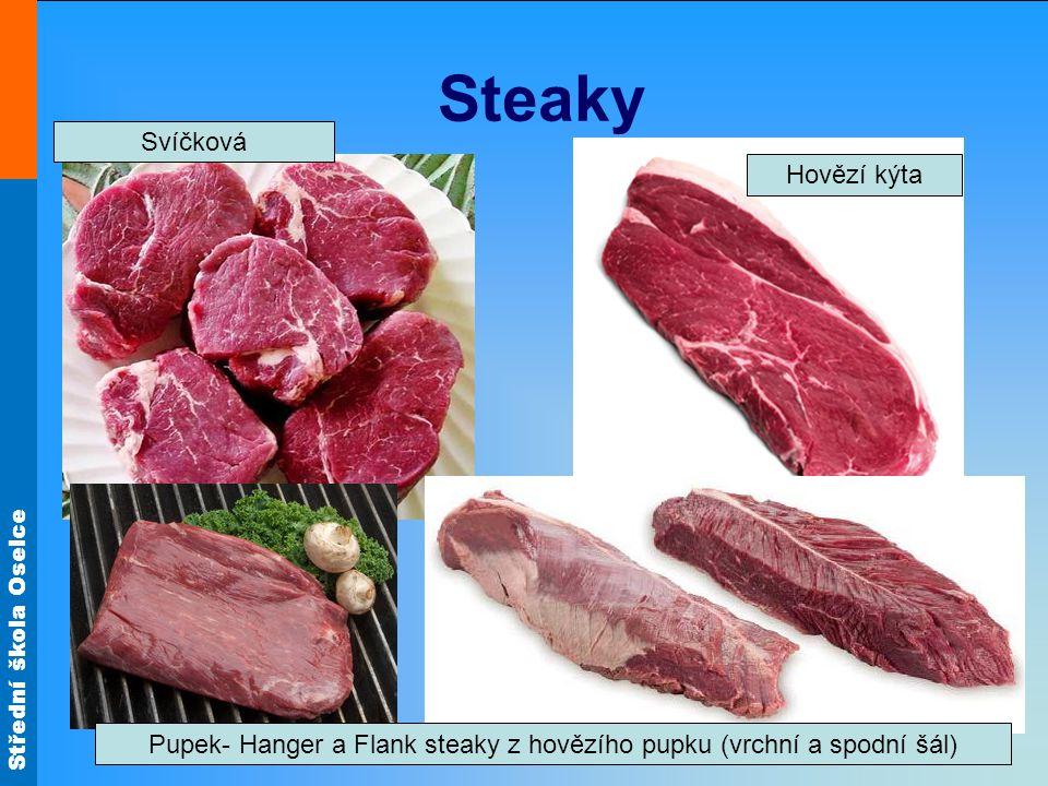Pupek- Hanger a Flank steaky z hovězího pupku (vrchní a spodní šál)