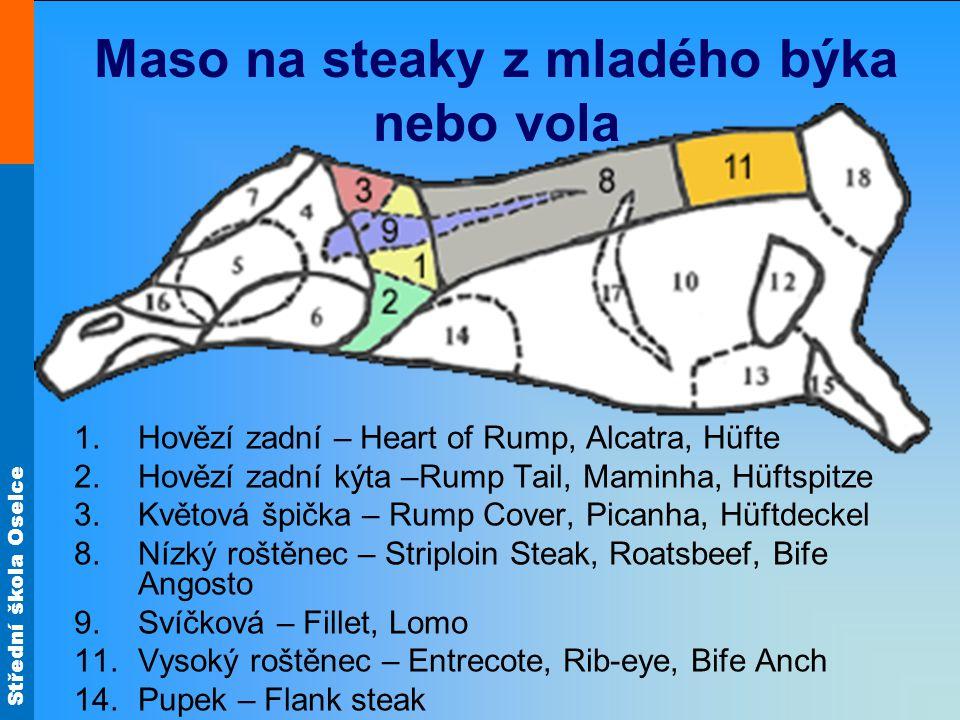 Maso na steaky z mladého býka nebo vola