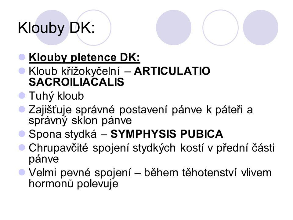Klouby DK: Klouby pletence DK: