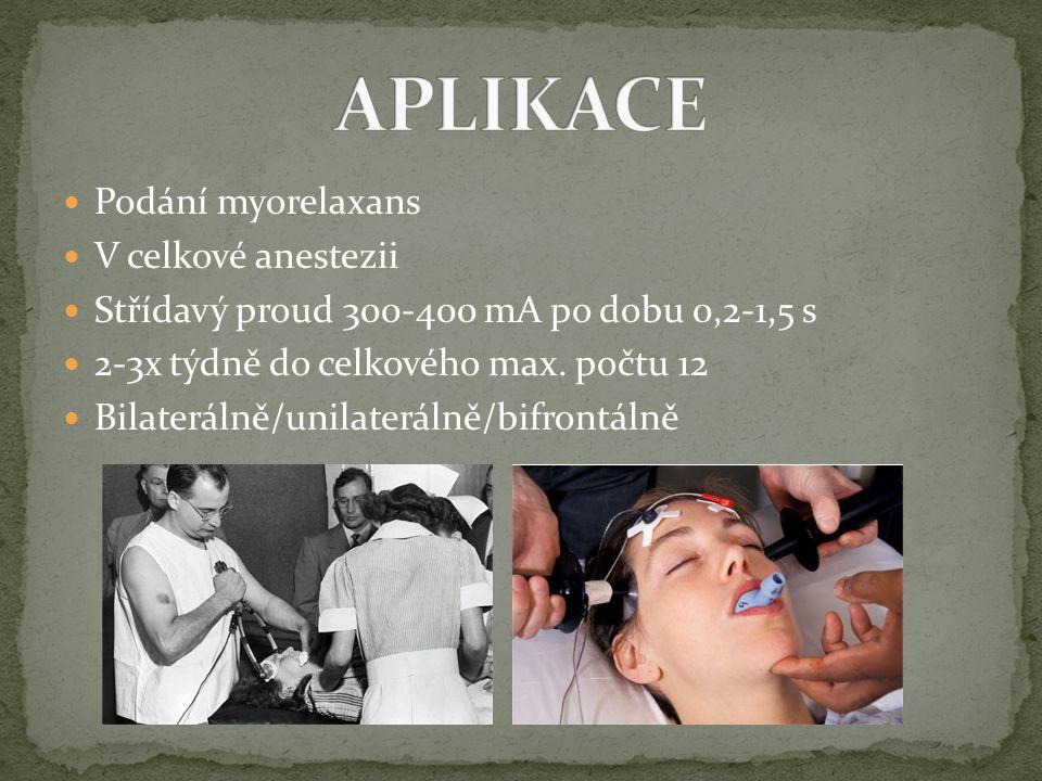 APLIKACE Podání myorelaxans V celkové anestezii