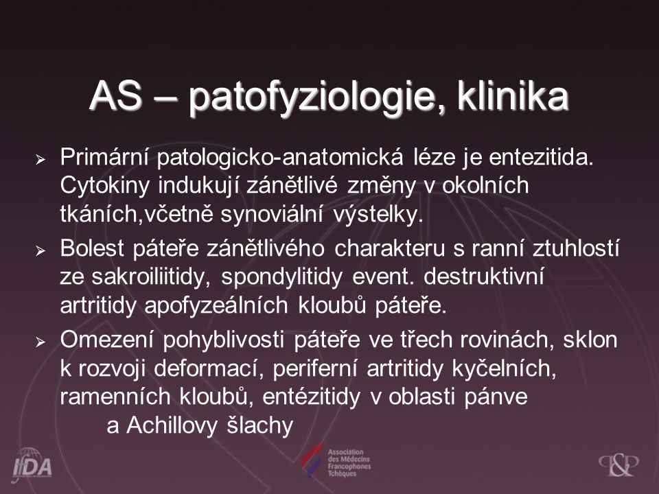 AS – patofyziologie, klinika