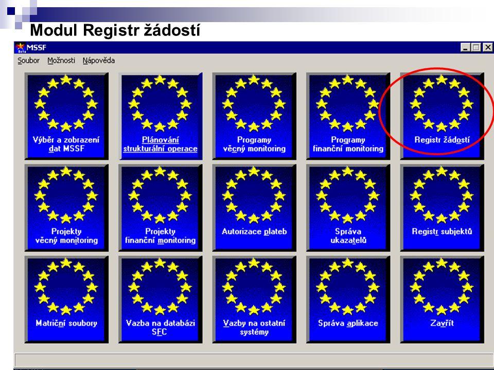 Modul Registr žádostí