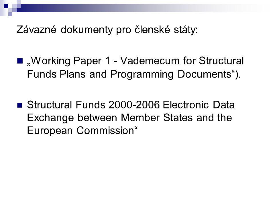 Závazné dokumenty pro členské státy: