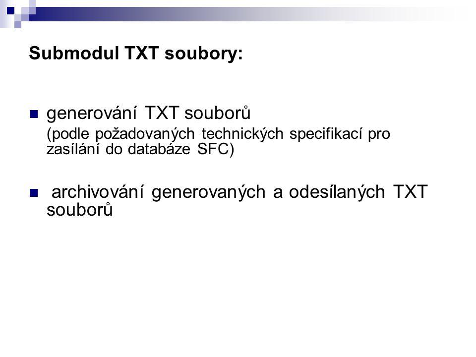 generování TXT souborů