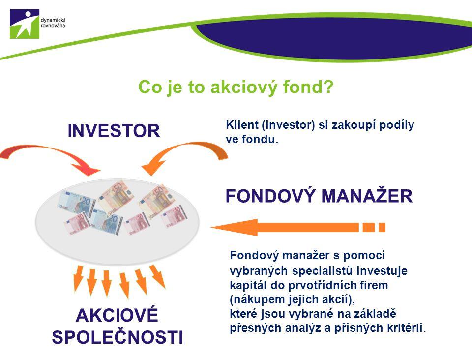 Co je to akciový fond INVESTOR FONDOVÝ MANAŽER AKCIOVÉ SPOLEČNOSTI