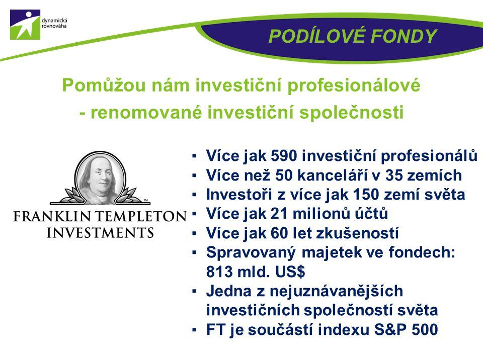 Pomůžou nám investiční profesionálové