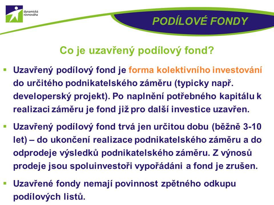 Co je uzavřený podílový fond