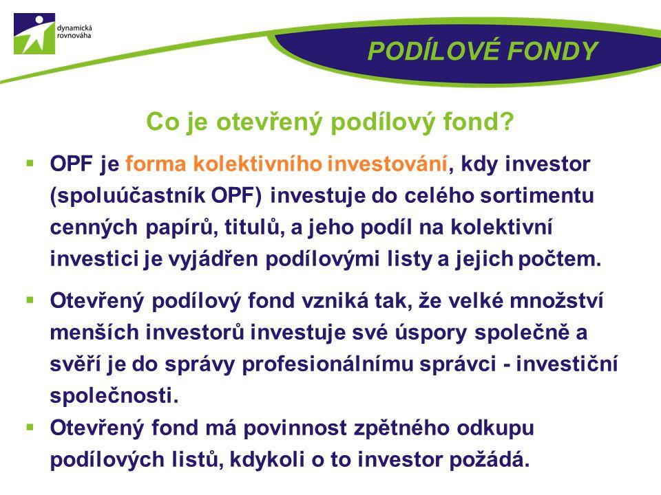 Co je otevřený podílový fond