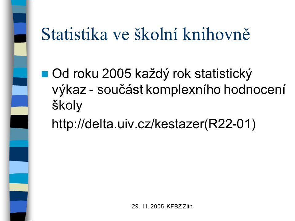 Statistika ve školní knihovně