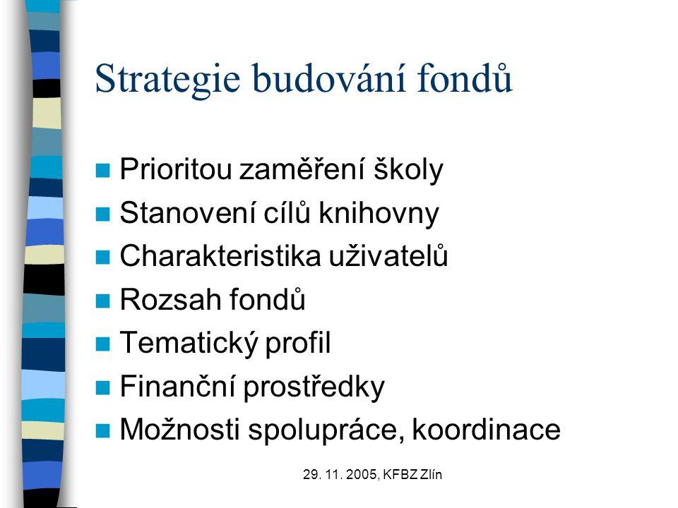 Strategie budování fondů