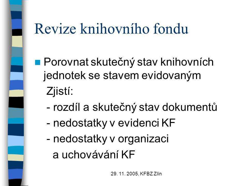 Revize knihovního fondu