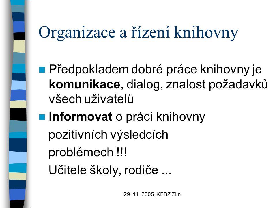 Organizace a řízení knihovny