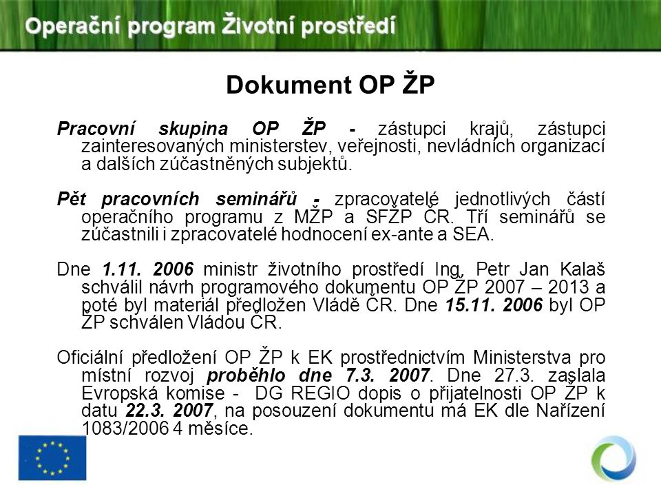 Dokument OP ŽP