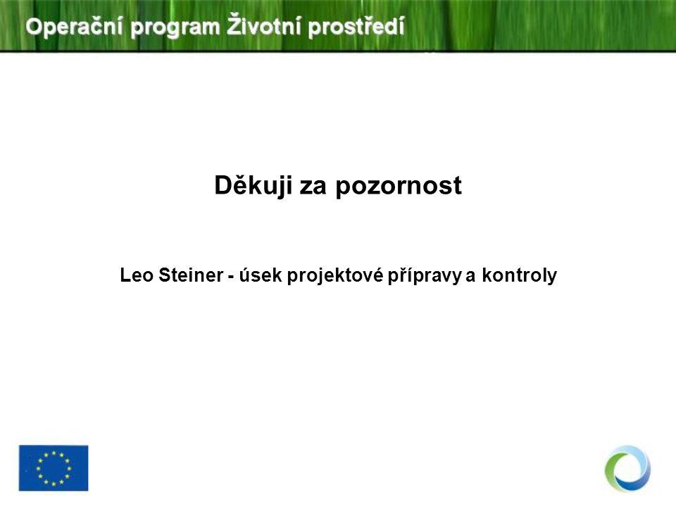 Leo Steiner - úsek projektové přípravy a kontroly