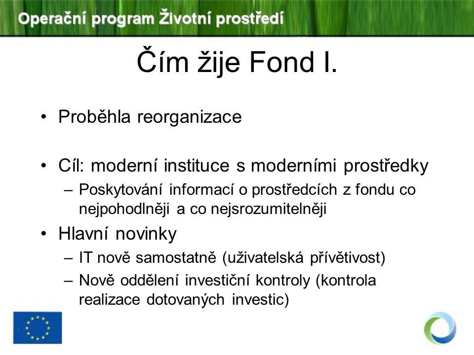 Čím žije Fond I. Proběhla reorganizace