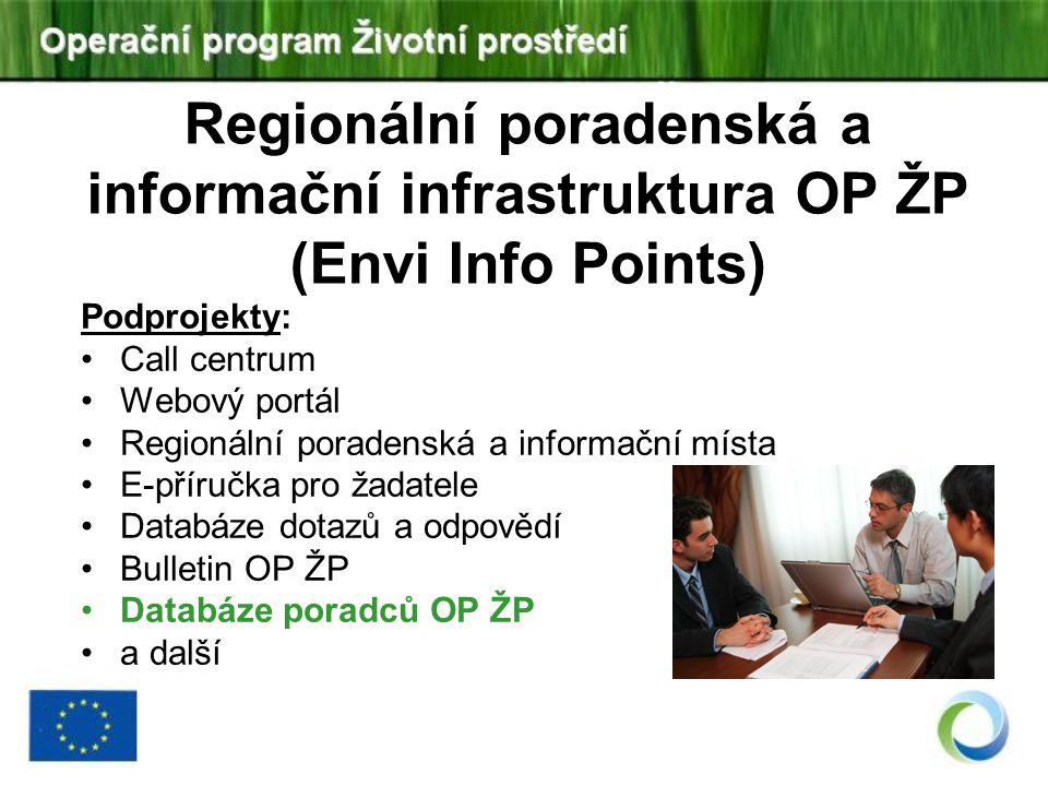Regionální poradenská a informační infrastruktura OP ŽP (Envi Info Points)
