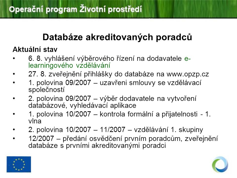 Databáze akreditovaných poradců