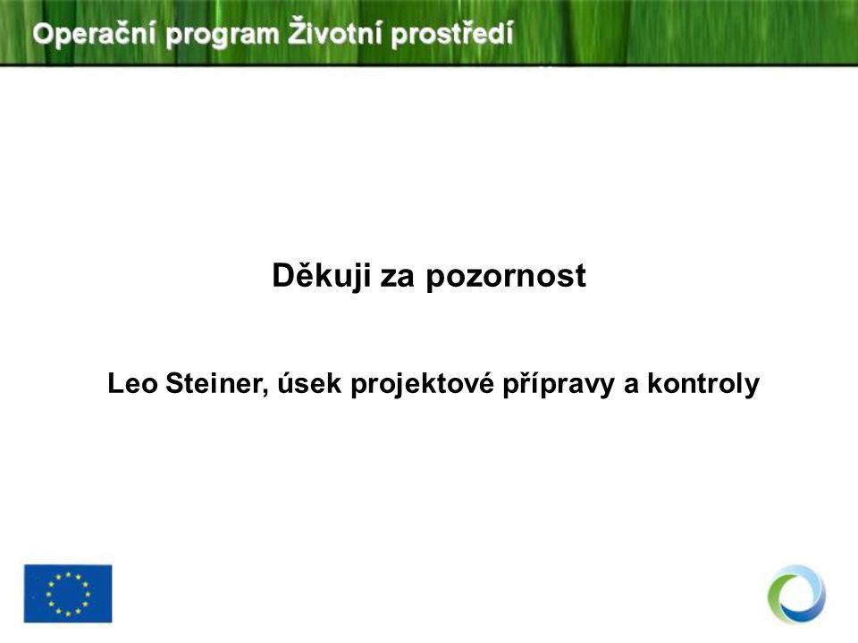 Leo Steiner, úsek projektové přípravy a kontroly