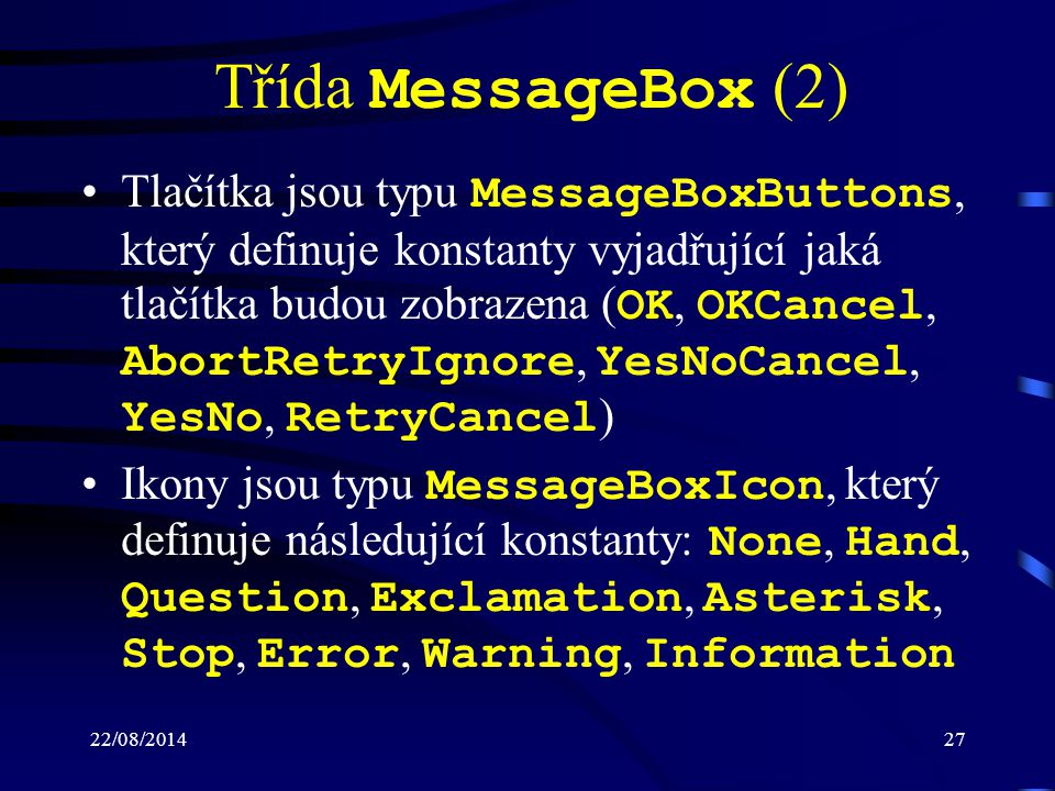 Třída MessageBox (2)