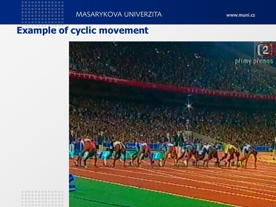 Example of cyclic movement