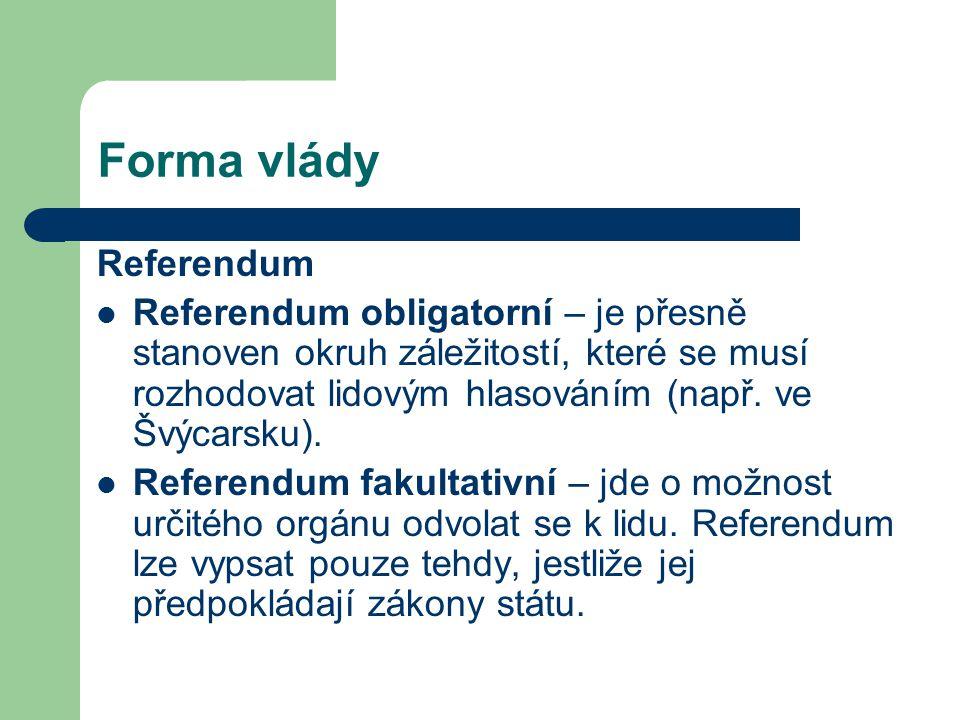 Forma vlády Referendum