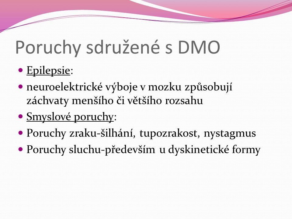 Poruchy sdružené s DMO Epilepsie:
