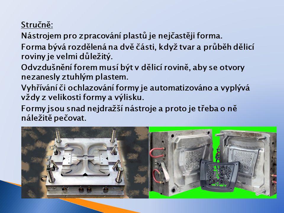 Stručně: Nástrojem pro zpracování plastů je nejčastěji forma
