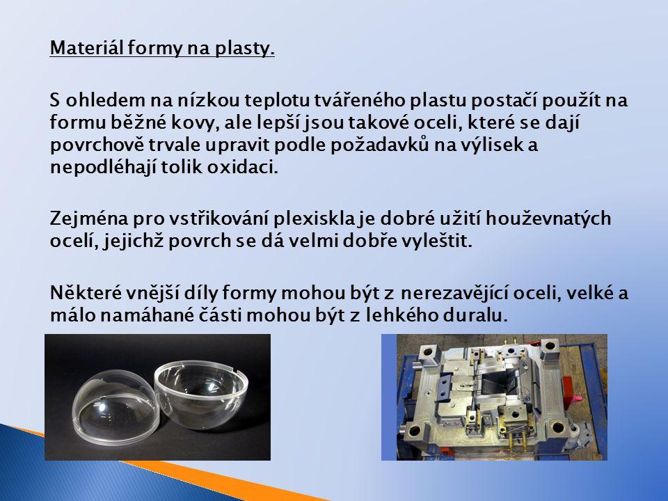 Materiál formy na plasty