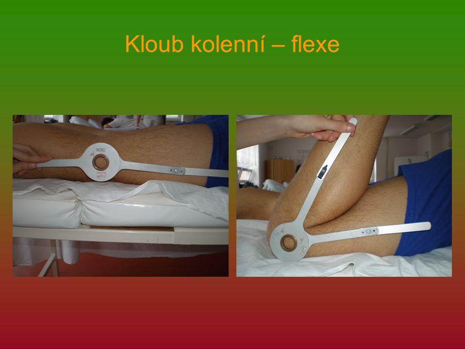 Kloub kolenní – flexe