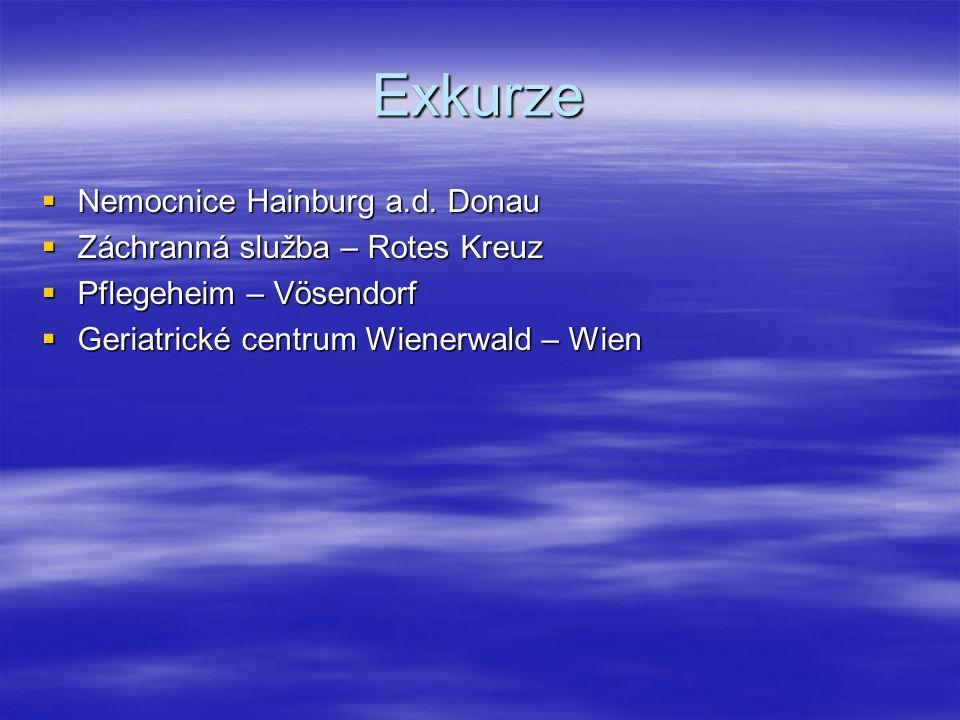 Exkurze Nemocnice Hainburg a.d. Donau Záchranná služba – Rotes Kreuz