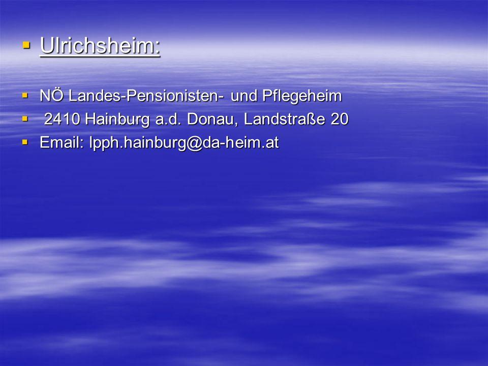 Ulrichsheim: NÖ Landes-Pensionisten- und Pflegeheim
