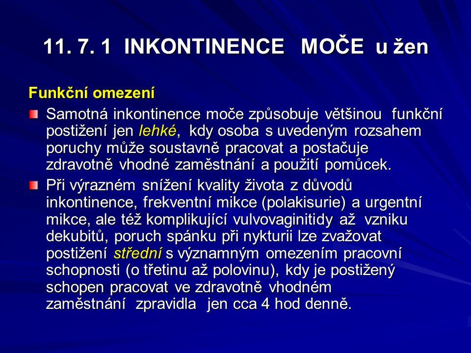 11. 7. 1 INKONTINENCE MOČE u žen