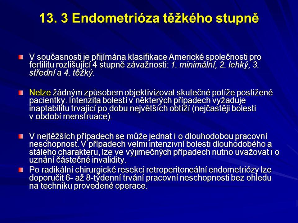 13. 3 Endometrióza těžkého stupně