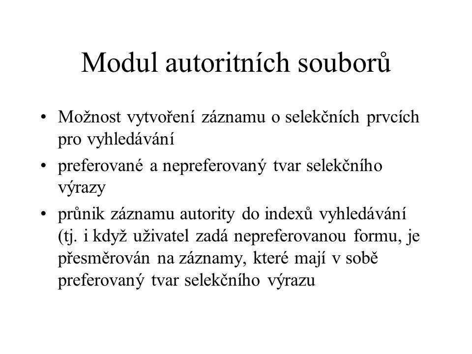 Modul autoritních souborů