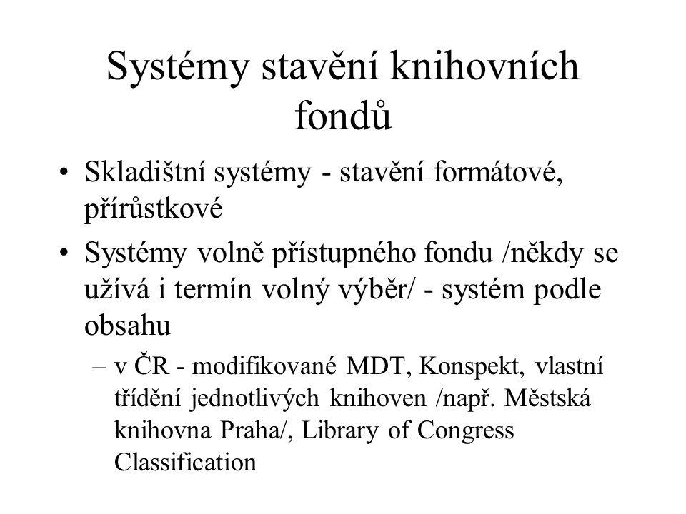 Systémy stavění knihovních fondů