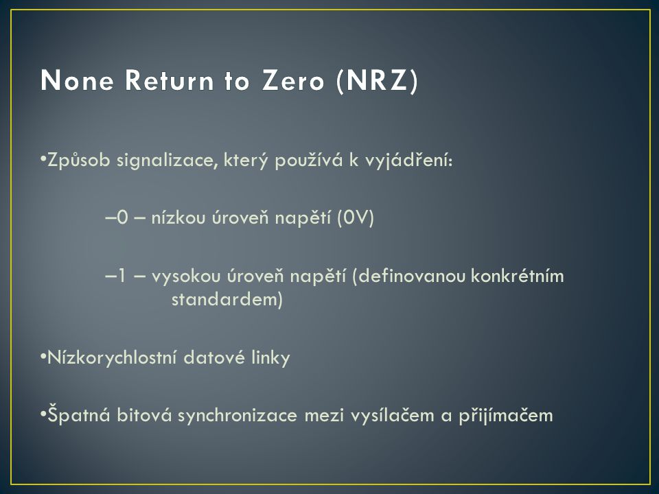 None Return to Zero (NRZ)