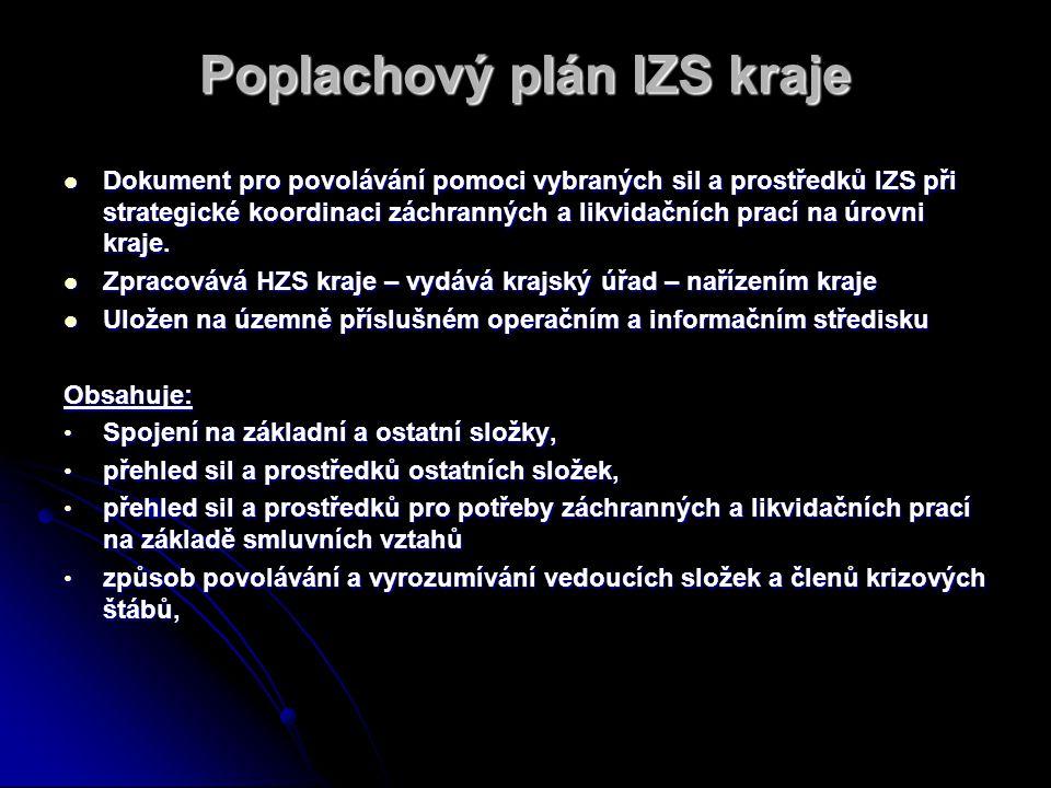 Poplachový plán IZS kraje