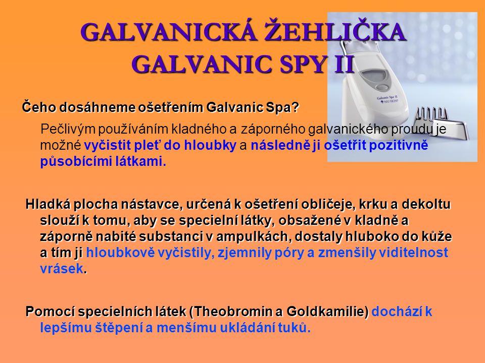 GALVANICKÁ ŽEHLIČKA GALVANIC SPY II